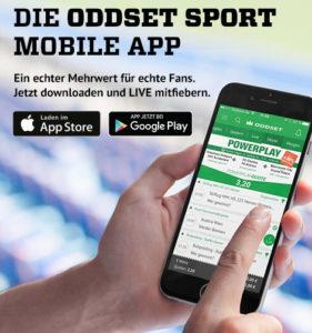 ODDSET Sport Mobile App jetzt downloaden
