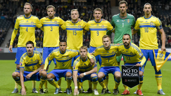 EM 2016 Team Schweden