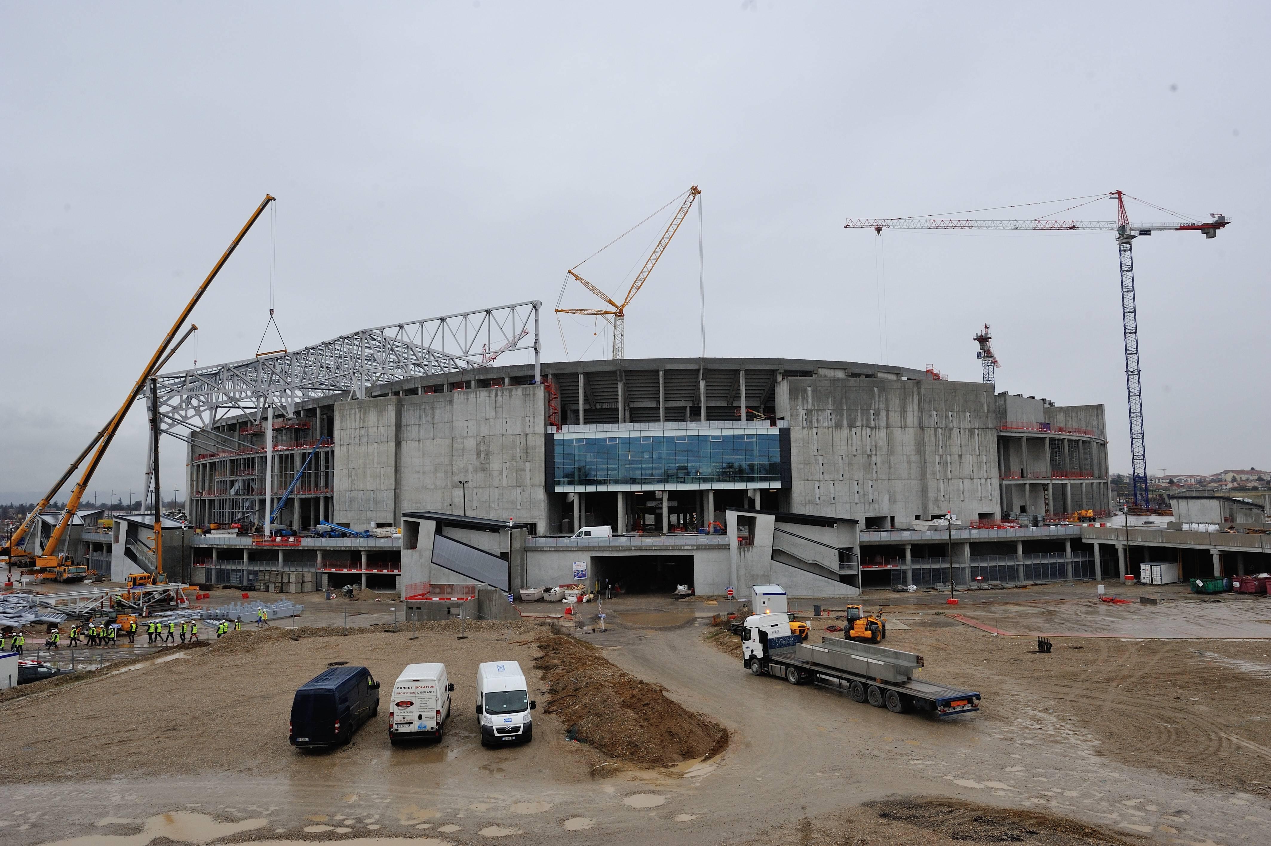 Stade de Lumieres - Zukünftige Heimspielstätte von Olympique Lyon und ein Austragungsort der UEFA EURO 2016 in Frankreich - Lyon - 29/01/2015 FredericChambert/Panoramic PUBLICATIONxNOTxINxFRAxITAxBELStade de lumieres future Home venue from Olympique Lyon and a Venue the UEFA Euro 2016 in France Lyon 29 01 2015 frederic Chambert Panoramic PUBLICATIONxNOTxINxFRAxITAxBEL