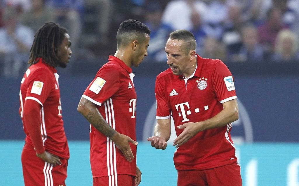 FC Bayern München - Neuzugang Renato Sanches, Thiago und Franck Ribéry