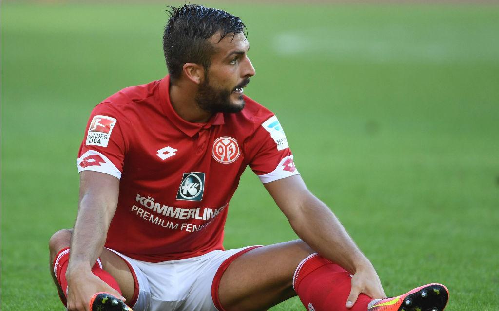 Giulio Donati (FSV Mainz 05) enttäuscht nach dem Fussball Bundesligaspiel 1.FSV Mainz 05 - TSG 1899 Hoffenheim.