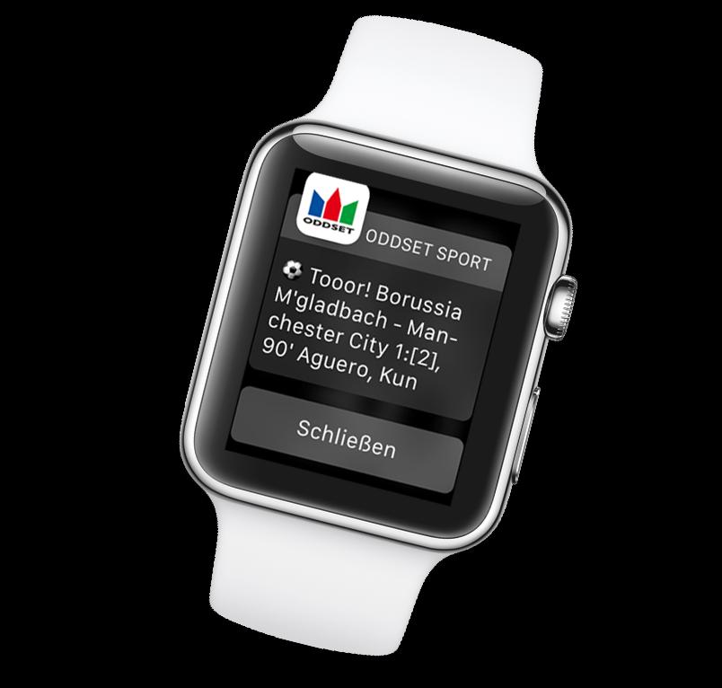 ODDSET Sport Mobile App: Smartwatch