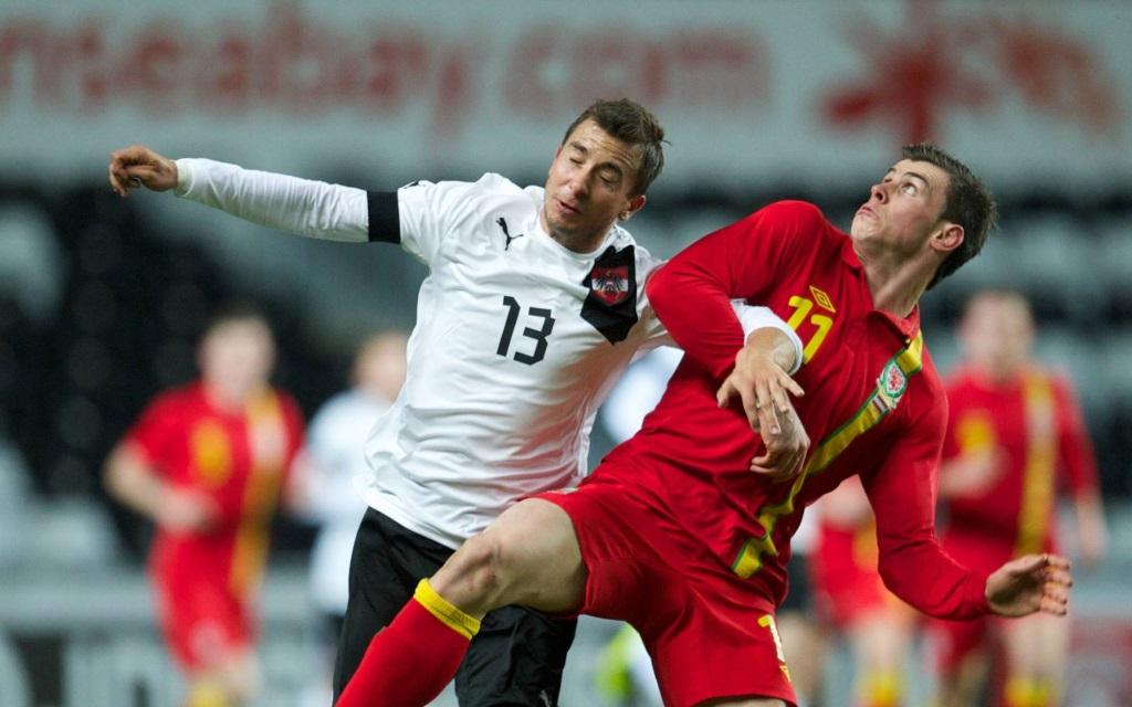 Gareth Bale im Freundschaftsspiel zwischen Wales und Österreich 2013 in Swansea