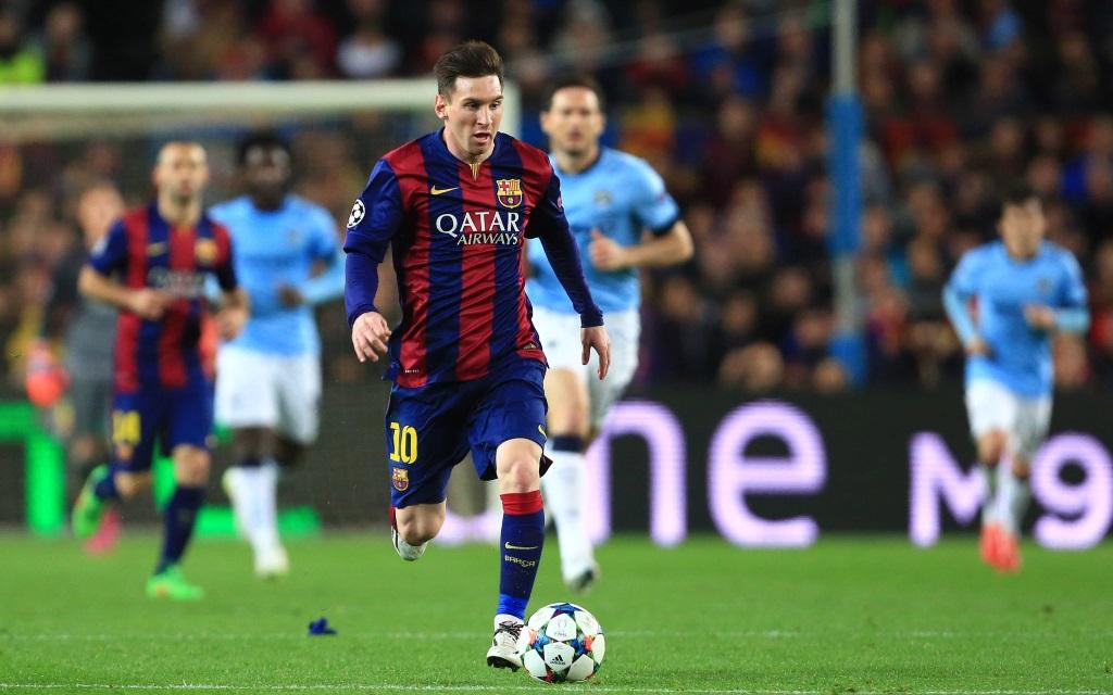 Lionel Messi im Champions League-Spiel zwischen dem FC Barcelona und Manchester City