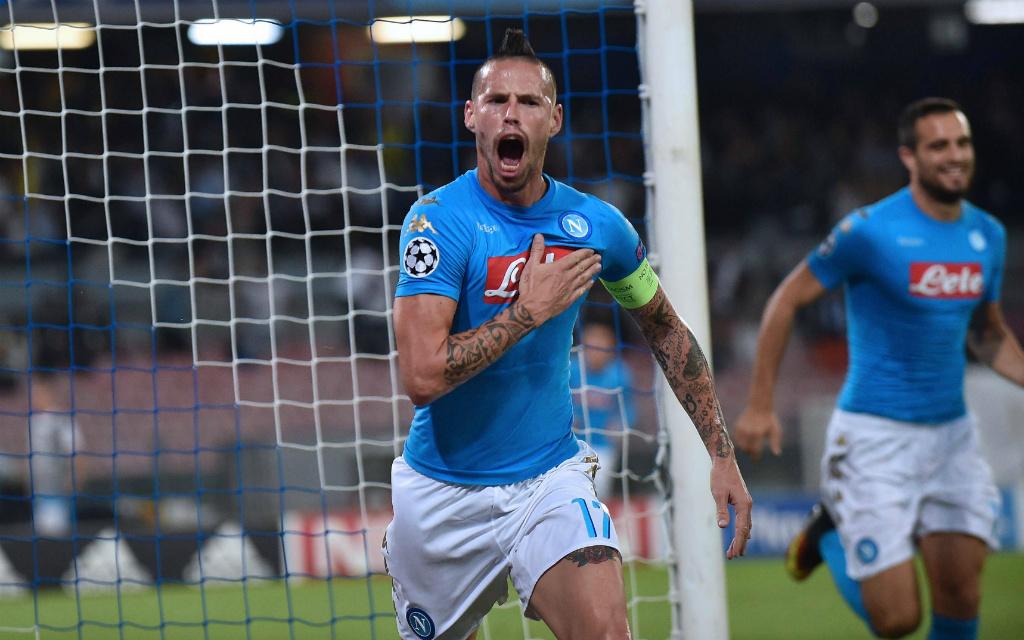 Kapitän Marek Hamsik und der SSC Neapel wollen auch gegen die Roma jubeln