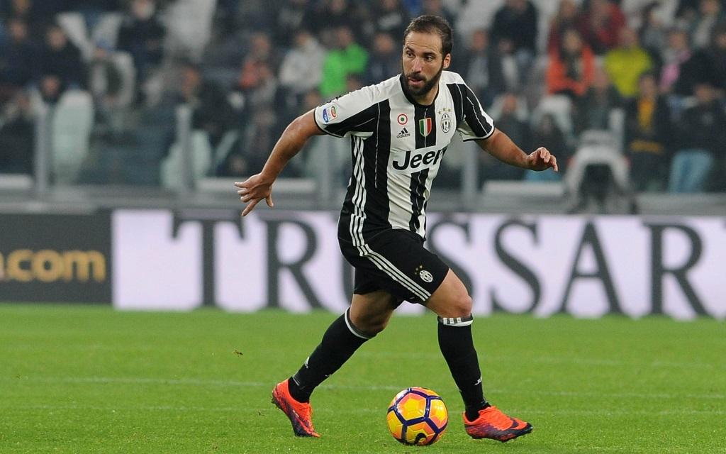 Gonzalo Higuain von Juventus Turin im Spiel gegen Samdporia Genua in der Saison 2016/17