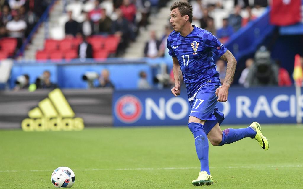 Kroatiens Torjäger Mario Mandzukic soll auch gegen Island treffen.