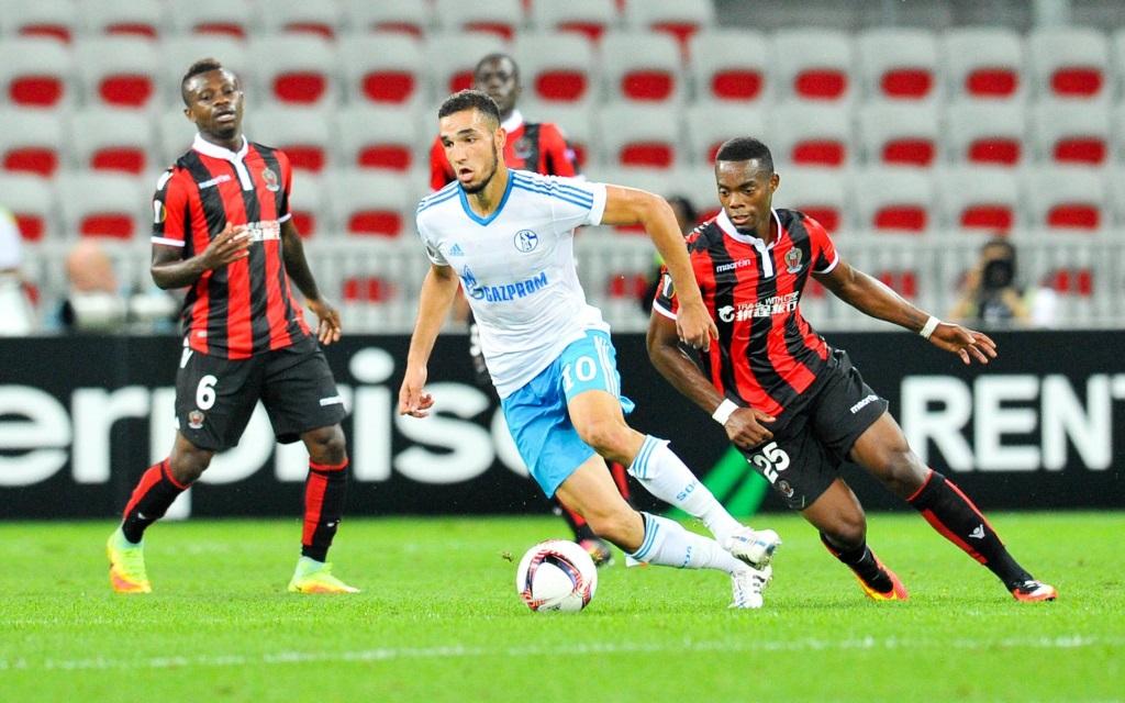 Nabil Bentaleb im Hinspiel zwischen Nizza und Schalke in der Europa League Saison 2016/17