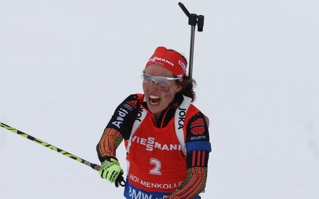 Laura Dahlmeier gewinnt Silber im Massenstart bei der WM 2016 am Holmenkollen