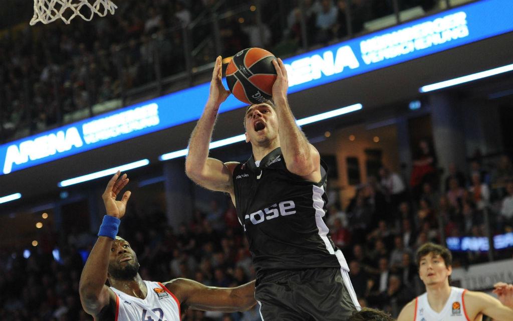 Bambergs Fabien Caseur ist auch in der EuroLeague nur schwer zu stoppen.