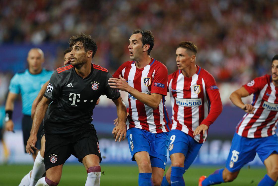 Javi Martínez (FC Bayern München) und Diego Godín (Atletico Madrid)