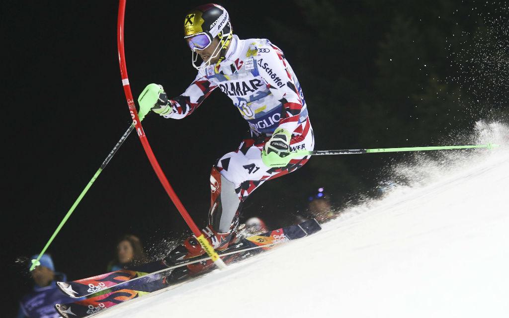 Marcel Hirscher fuhr letztes Jahr beim Slalom in Madonna di Campiglio auf Platz zwei.
