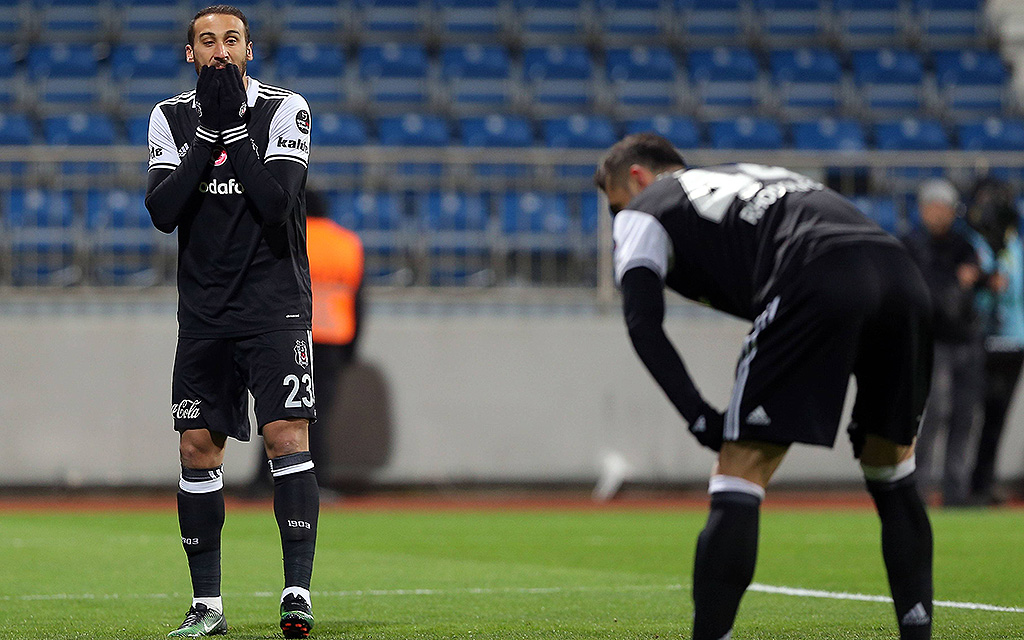 Süper Lig Match zwischen Kasimpasa und Besiktas im Recep Tayyip Erdogan Stadium in Istanbul. Endergebnis 2:1