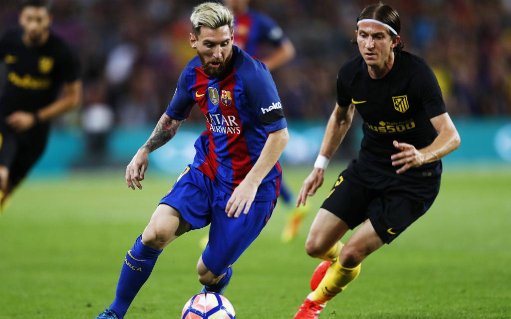 Können Filipe Luis (r.) und Atletico Barca und Leo Messi stoppen?
