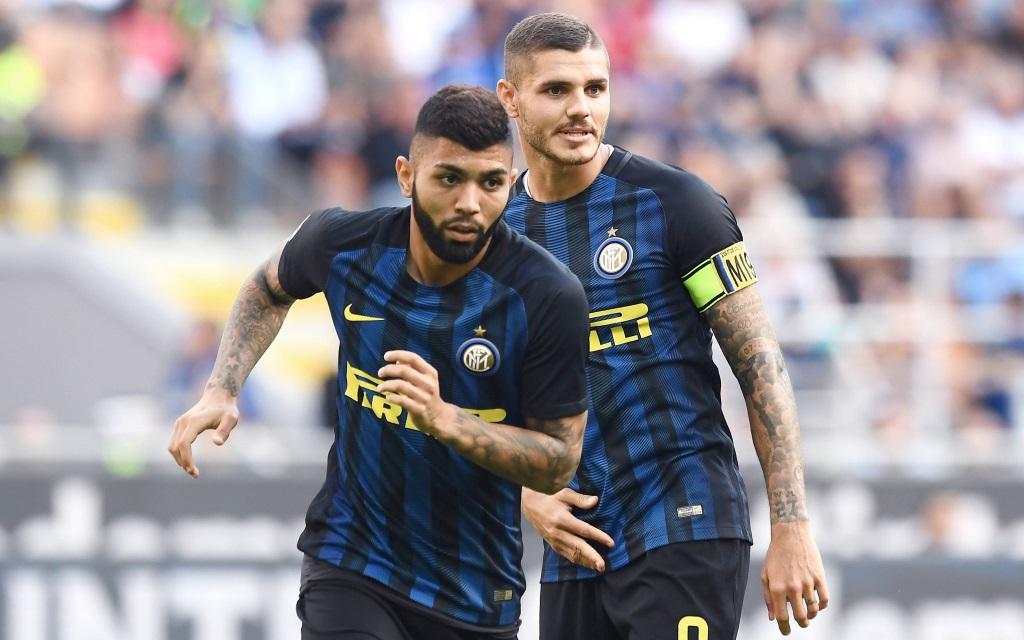 Mauro Icardi und Gabigol im Spiel der Serie A zwischen Inter Mailand und dem FC Bologna in der Saison 2016/17