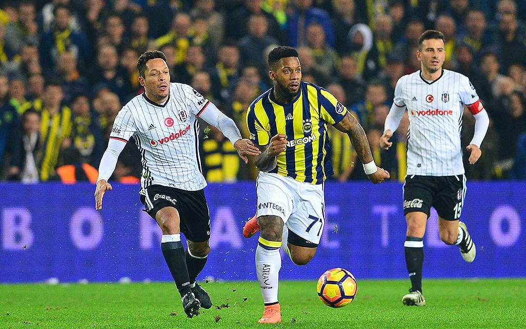 Süper Lig Match zwischen Fenerbahce und Besiktas im Ulker Stadium in Istanbul.