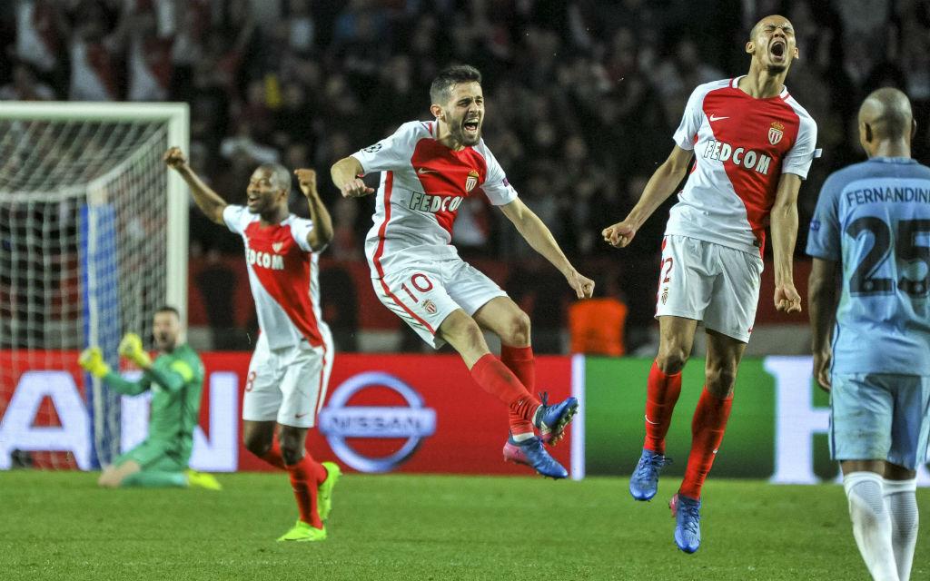 Torreiches Duell: Jaaaaa, wir haben es geschafft! Monaco bejubelt den Viertelfinal-Einzug.