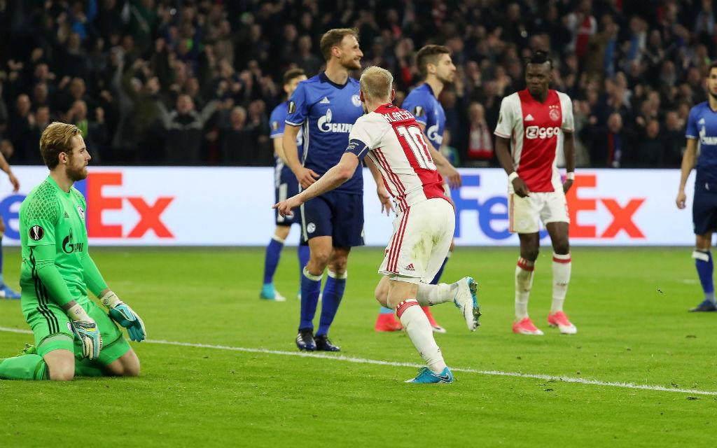 Bis auf Fährmann (l.) erwischten alle Schalker gegen Ajax einen schwachen Tag.