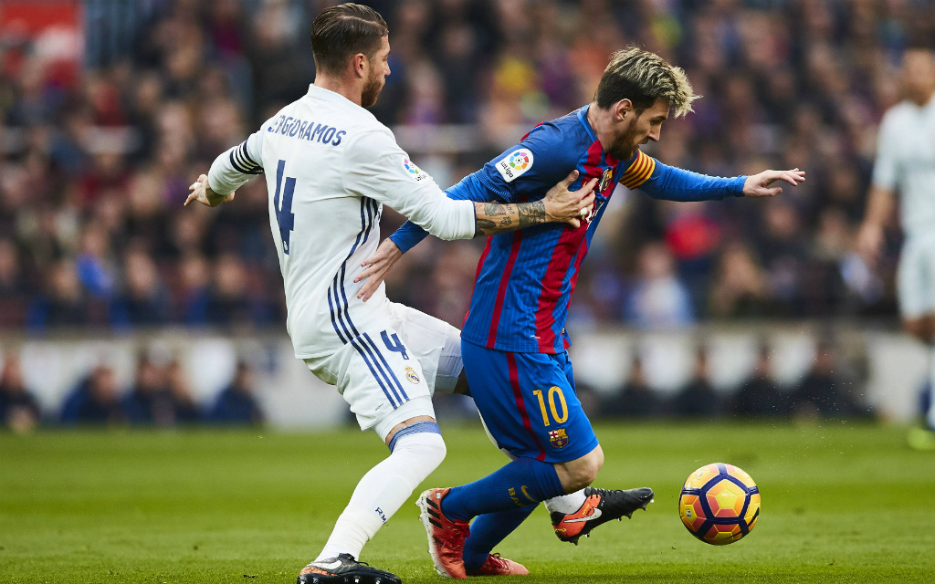 imago/Jan Huebner: ein Schlüsselduell im Clasico: Kann Ramos (l.) Messi stoppen?