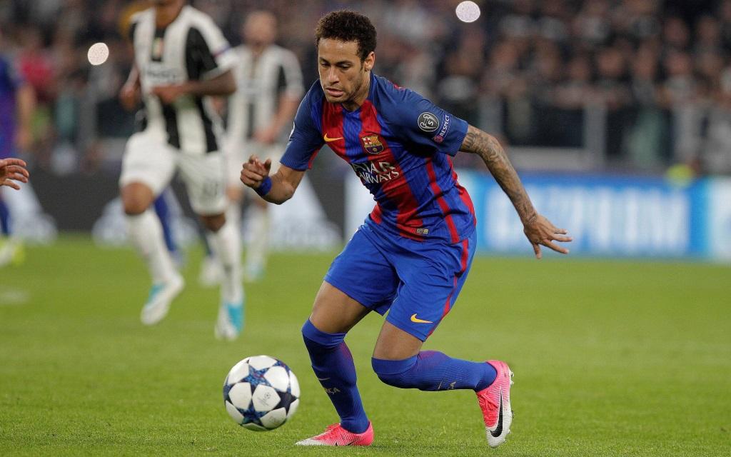 Neymar im Ballbesitz im Champions-League-Spiel gegen Juventus Turin.