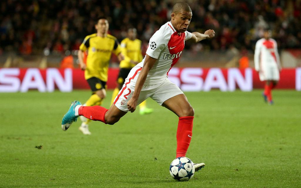 Monacos Kylian Mbappe will auch gegen die alte Dame Juve erfolgreich sein.