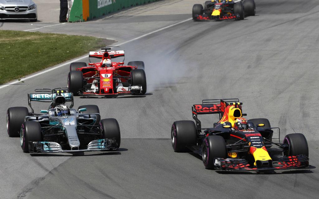 In Kanada klappte es nicht mit Vettels (5) viertem Saisonsieg.