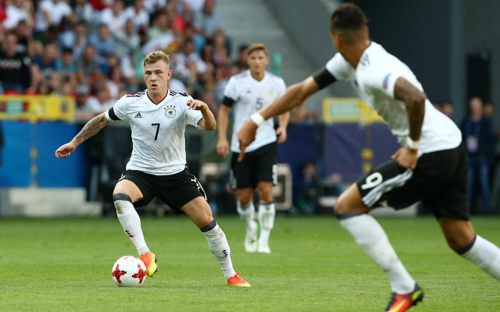 Imago/Contrast: Max Meyer (l.) und Davie Selke sollen Deutschland zum Sieg gegen Italien führen.