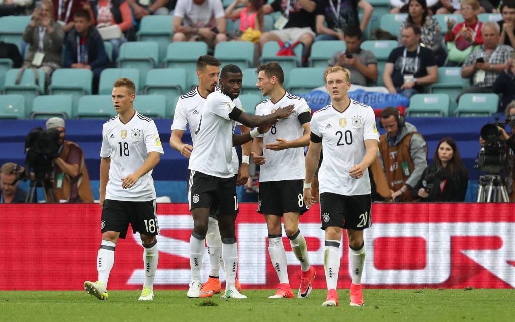Deutschland beim 3:2-Erfolg im Confed Cup 2017 gegen Australien.