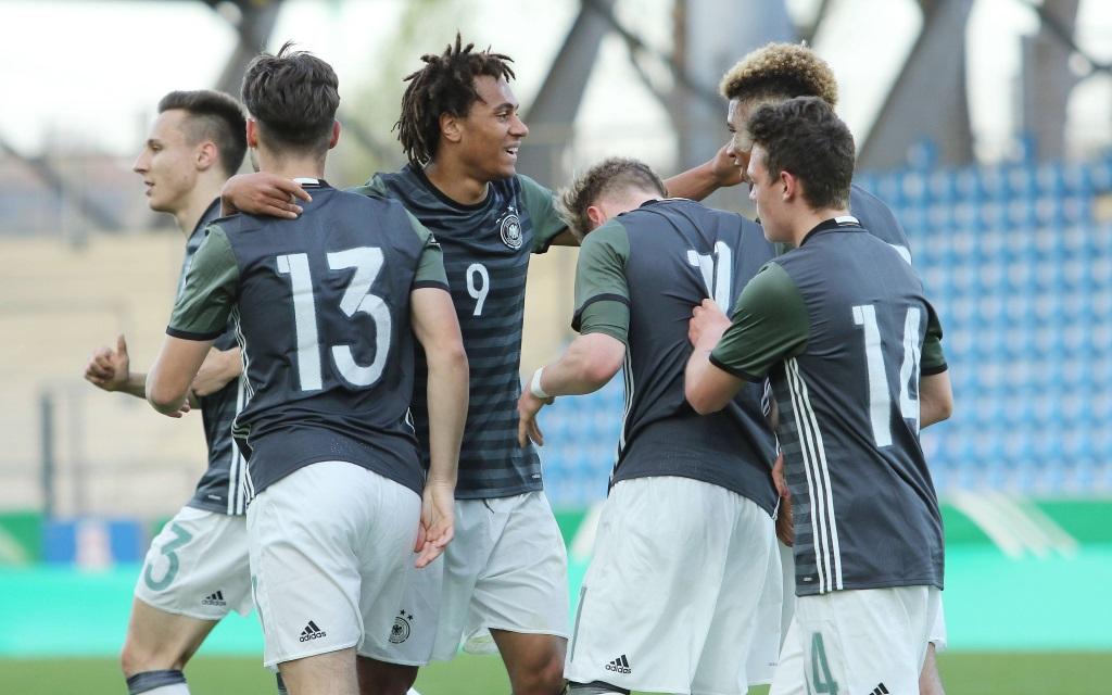 Deutschlands U19 in der EM-Quali gegen die Slowakei.