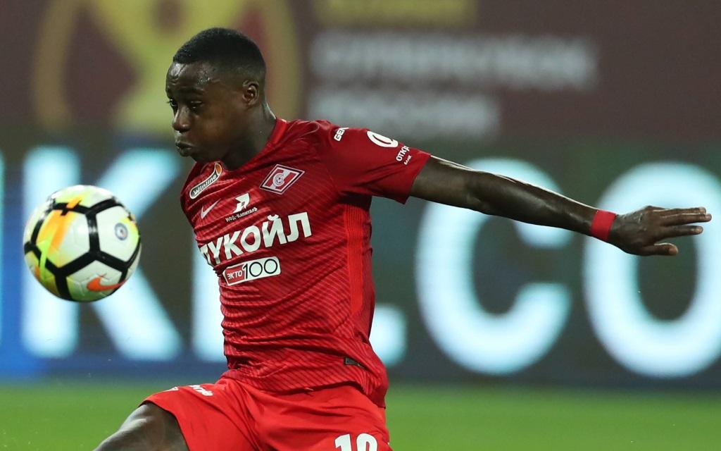 Quincy Promes von Spartak Moskau im russichen Supercup gegen Lokomotive.