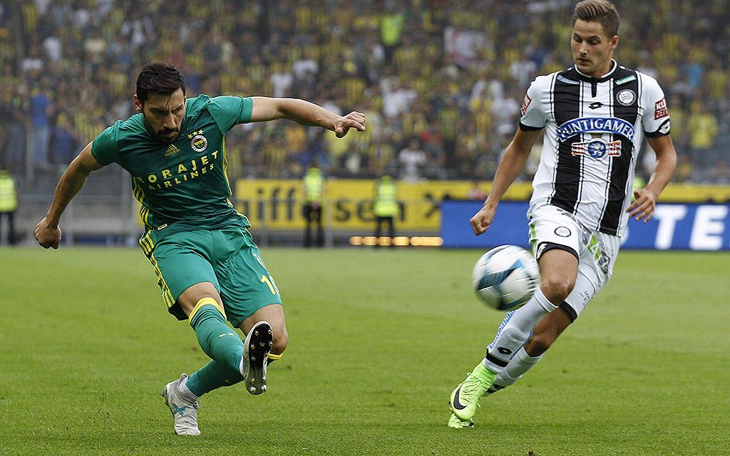 Sturm Graz verlor das Hinspiel gegen Fenerbahce mit 1:2.