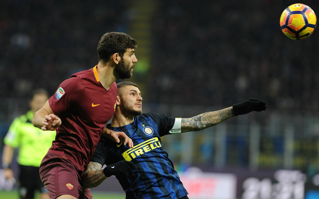 Imago/Hoch Zwei Syndication. Wer setzt sich am Samstag durch: Federico Fazios Roma (l.) oder Mauro Icardis Inter?