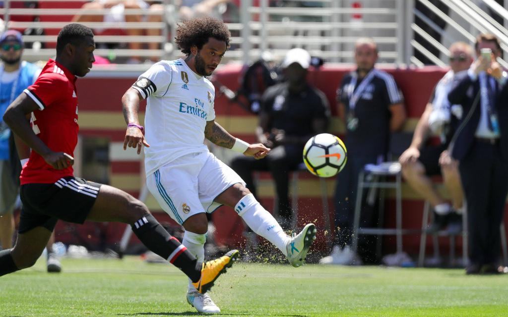 Imago/Zuma Press: Reals Marcelo (r.) kämpft gegen Fosu-Mensahs United um den europäischen Supercup.