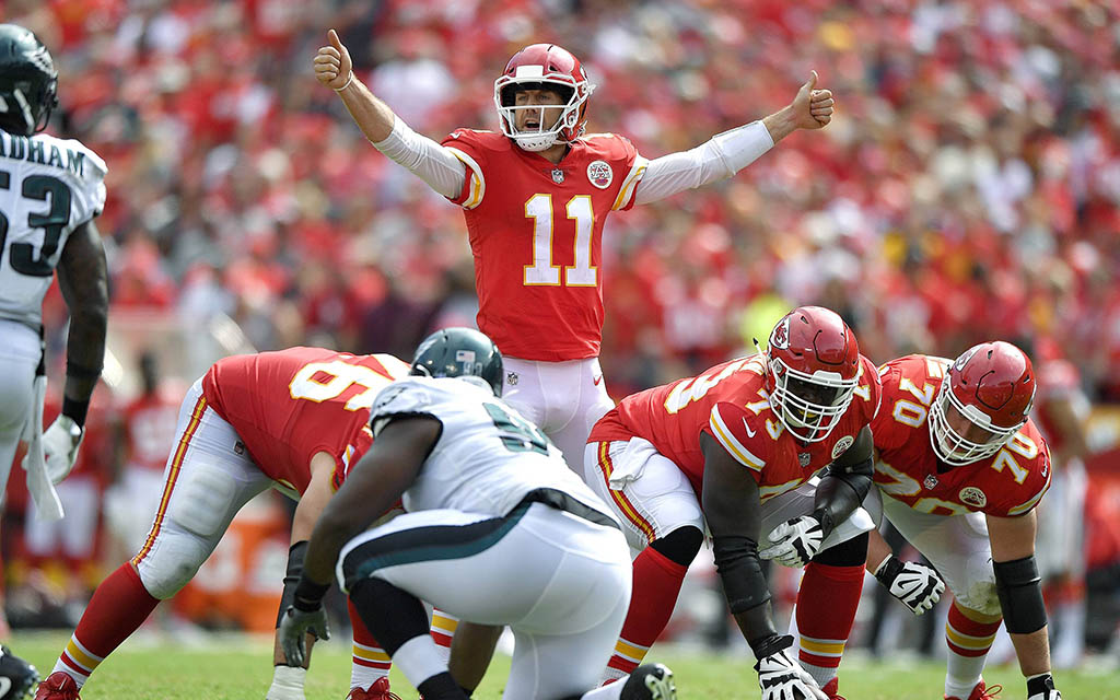 Chiefs Quarterback Alex Smith in der Offense