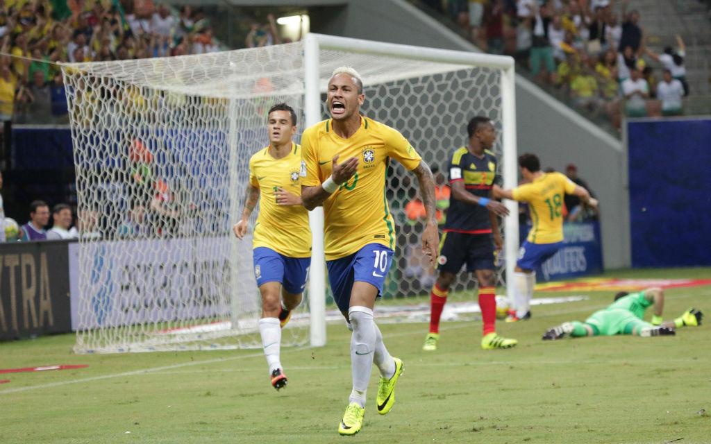 Revanche in der WM-Quali: Neymars 2:1-Siegtreffer für Brasilien gegen Kolumbien.
