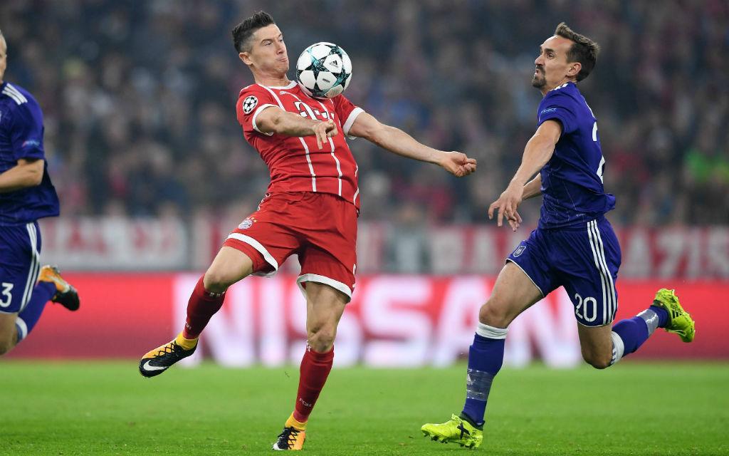 Lewandowski traf im Auftaktmatch gegen Anderlecht per Elfmeter.