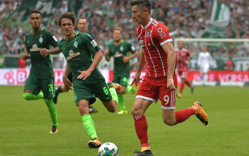 Im Ligaspiel gegen Bremen sorgte Lewandowski stets für Feuer im Strafraum der Gäste: 2:0 für Bayern.