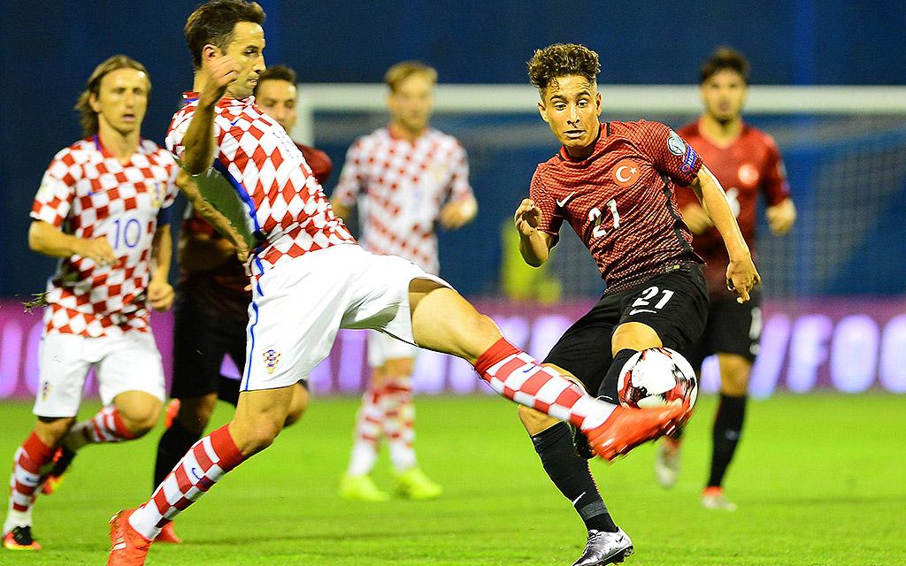 Emre Mor, damals noch für den BVB, und Co. holten im Hinspiel ein 1:1 in Kroatien