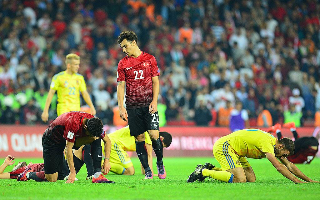 Im Hinspiel trennten sich die Türkei und die Ukraine 2:2
