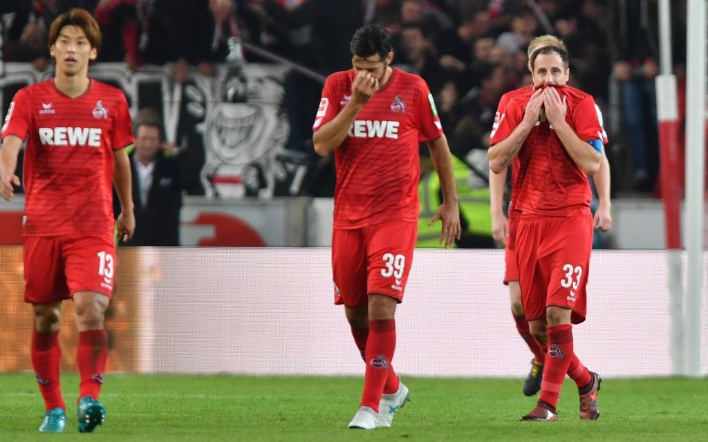 Kölner Spieler nach der Niederlage beim VfB Stuttgart.