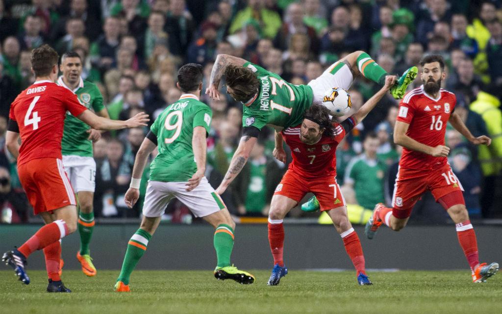 Im Hinspiel trennten sich Irland und Wales torlos.