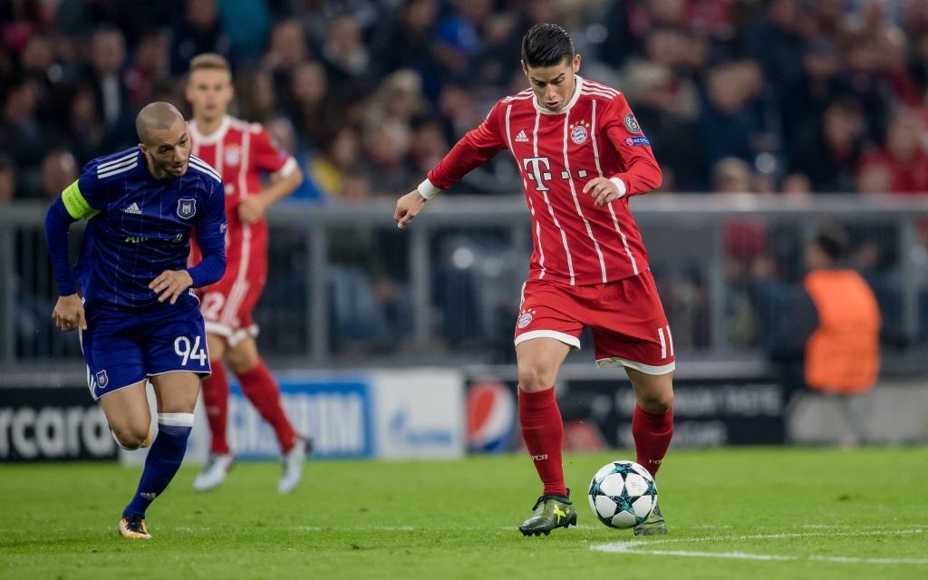 James Rodriguez im Heimspiel gegen Anderlecht in der Saison 2016/17,