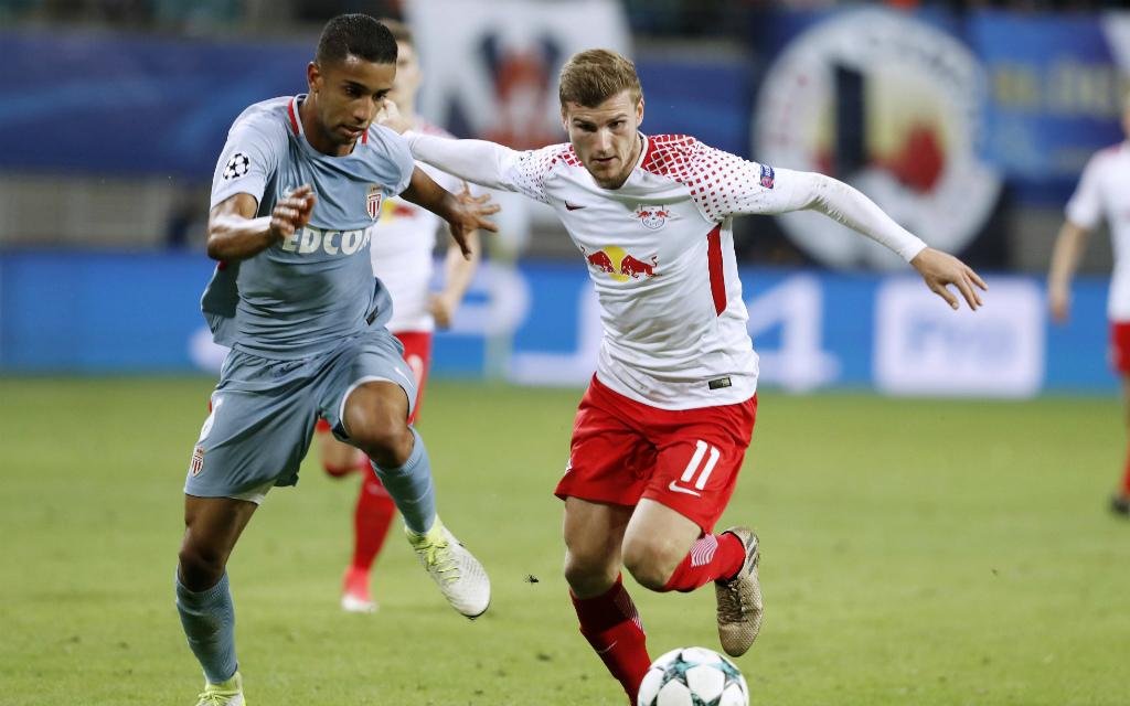 Imago/Laci Perenyi: Im Hinspiel trennten sich Timo Werners (r.) Leipziger und Jorges AS Monaco 1:1. Wie endet das Rückspiel?