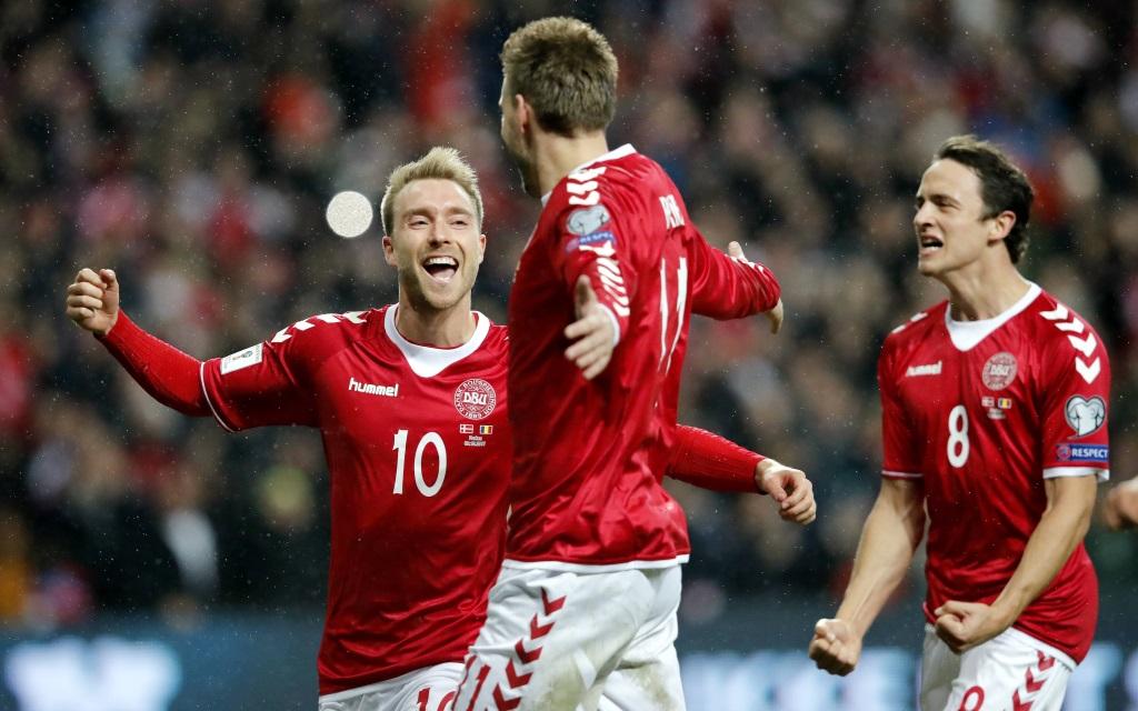 Dänemark nach dem 1:0-Führungstor gegen Rumänien.