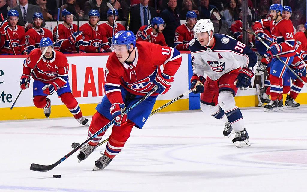 Top-Scorer Gallagher von den Montreal Canadiens im Angriff gegen Columbus