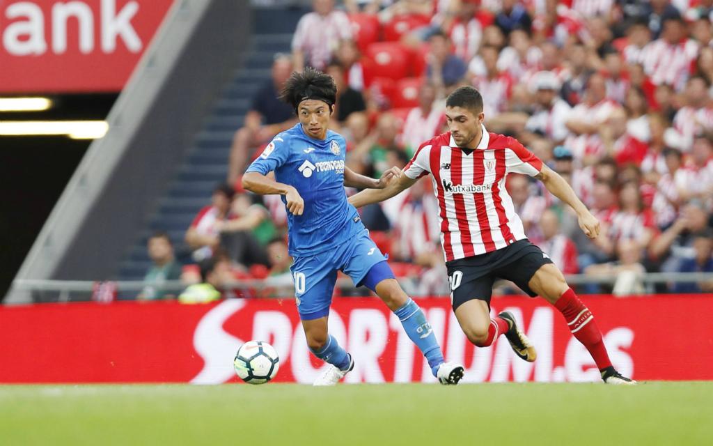 Imago/AFLOSPORT: Wer setzt sich durch: Gaku Shibasaki (l.) und der FC Getafe oder Unai Nunez und Athletic Bilbao?