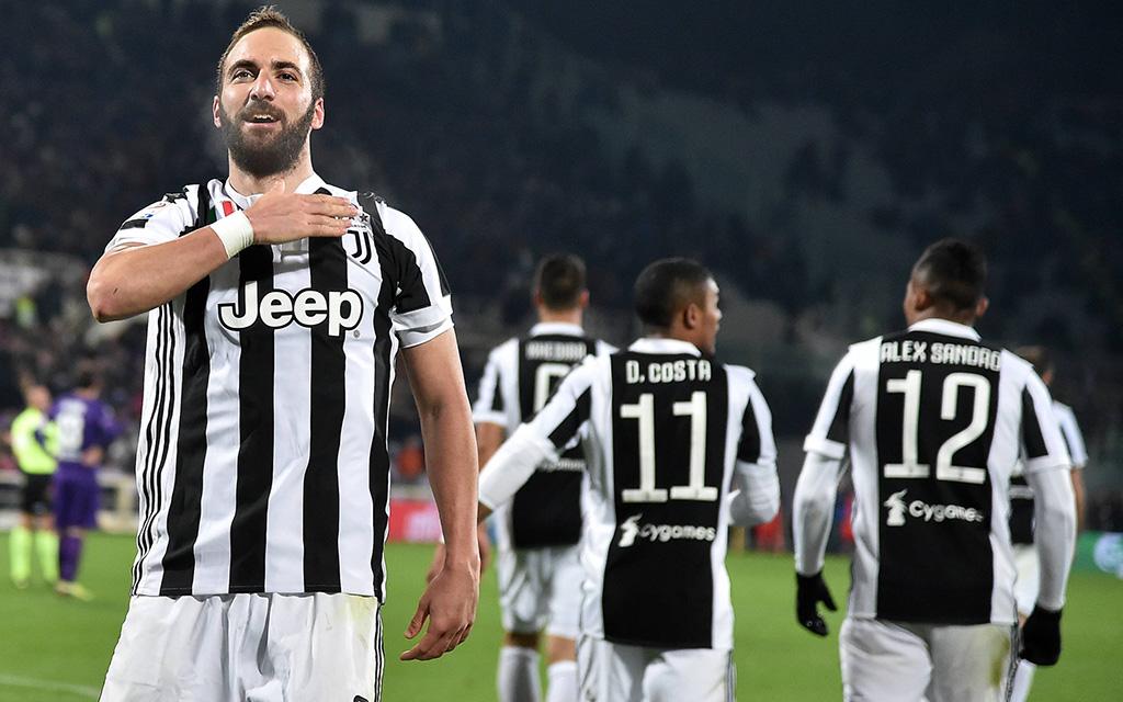 Gonzalo Higuain erzielte gegen Florenz sein 50. Tor für Juventus. Trifft er auch gegen Tottenham?