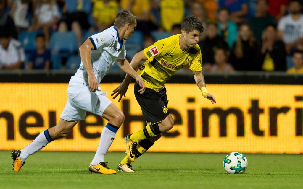 Chrstian Pulisic von Borussia Dortmund im Testspiel gegen Atalanta Bergamo.