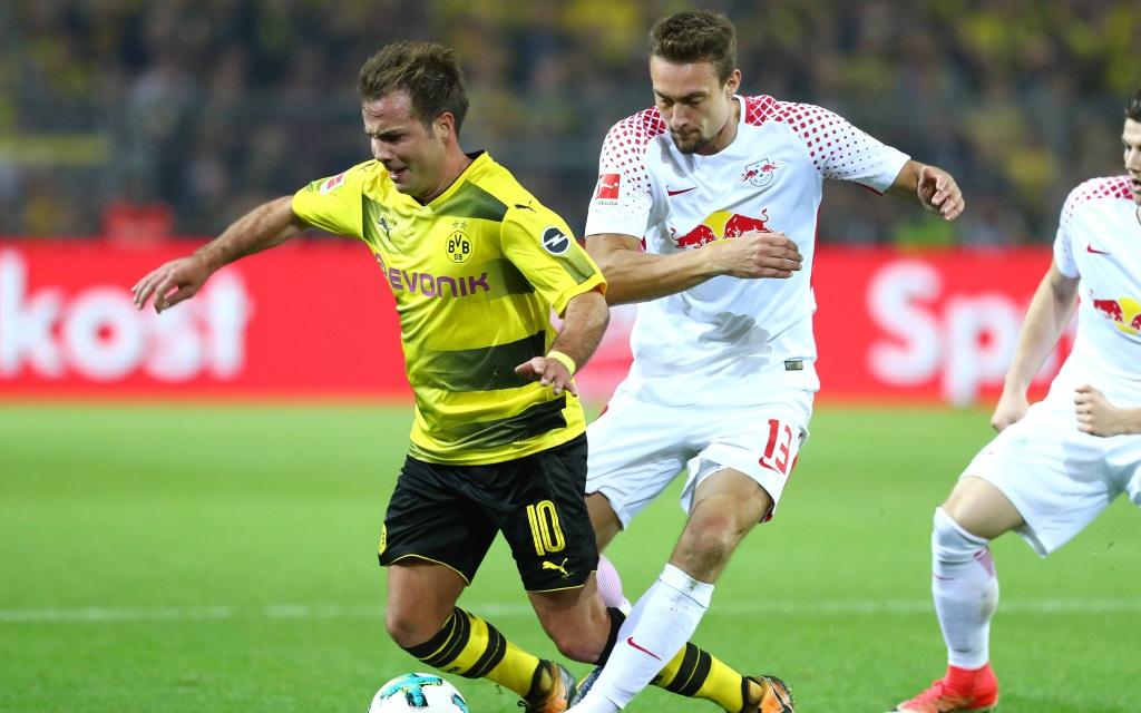 Mario Götze von Borussia Dortmund im Heimspiel gegen RB Leipzig in der Saison 2017/18,