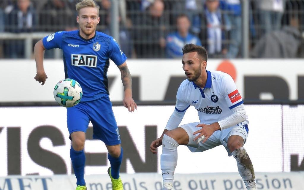 In der Hinrunde verlor Magdeburg 0:1 in Karlsruhe.